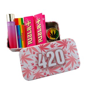 420 Pink Black Rolling Tray...